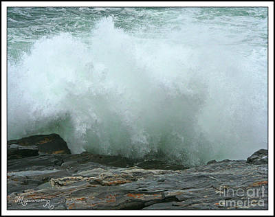 Photograph - Breaking Wave by Mariarosa Rockefeller