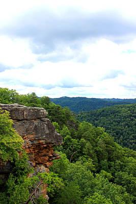 Broken Mixed Media - Breaks Interstate Park Virginia Kentucky Rock Valley View Overlook by Design Turnpike
