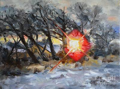 Sun Rays Painting - Breakthrough by Lori Pittenger