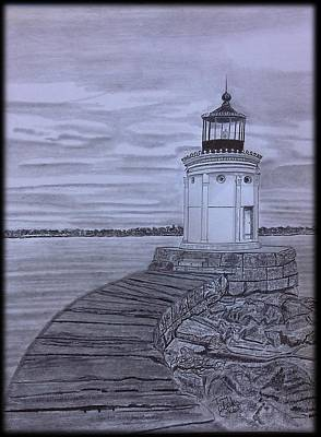 Breakwater Bug Lighthouse Art Print