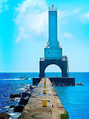 Wall Art - Photograph - Breakwater Lighthouse by Daniel Kleefeld