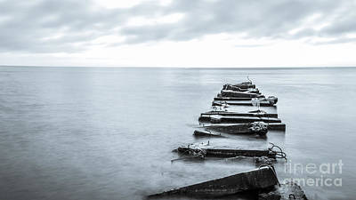Atwater Photograph - Breakwater Monochrome by Andrew Slater