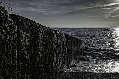 St Margaret Photograph - Breakwater by Nigel Jones