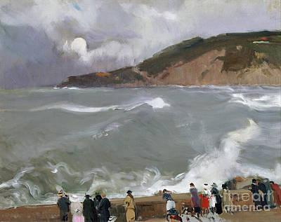 N.y Painting - Breakwater San Sebastian by Celestial Images