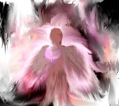 Breast Cancer Angel Art Print