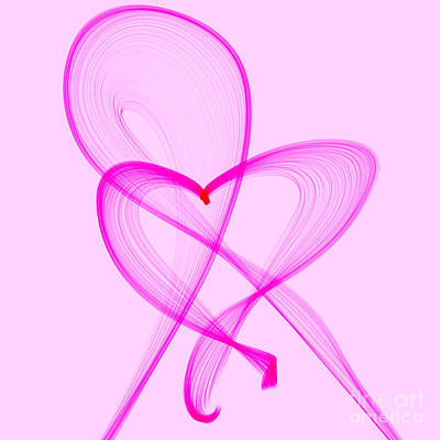 Breast Cancer Awareness Month Digital Art - Breast Cancer Awareness . Love by Renee Trenholm