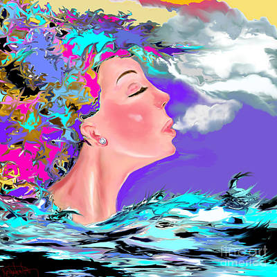 Digital Art - Just Breathe by Lori  Lovetere