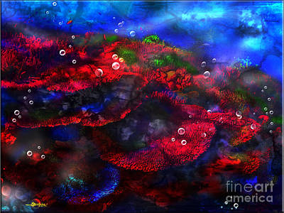 Catcher Mixed Media - Breath Taking Coral Reef by Christine Mayfield