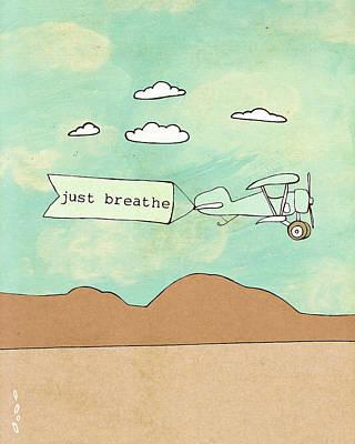 Plane Painting - Breathe 2.0 by Lisa Barbero