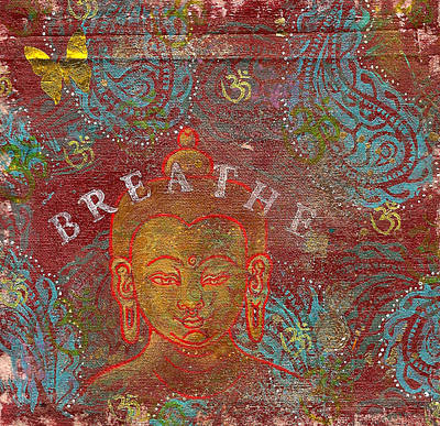 Breathe Buddha Art Print