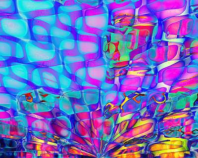 Contemporary Abstract Digital Art - Breathing Underwater by Wendy J St Christopher