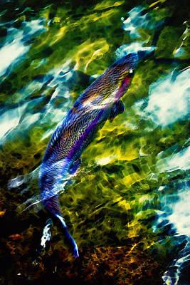 Steelhead Digital Art - Breathing Water by Belinda Greb
