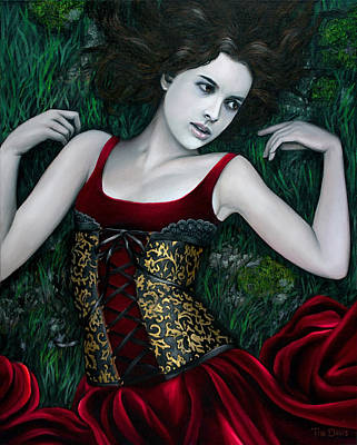 Corset Painting - Breathless by Tim Davis