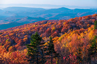 Photograph - Breathtaking Color On The Blue Ridge   by Lynn Bauer