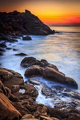 Photograph - Breathtaking Dusk At Coitelada Ares Galicia Spain by Pablo Avanzini