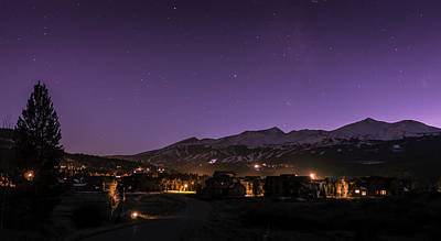 Breckenridge Colorado Night Sky Art Print