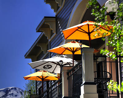 Jerry Sodorff Royalty-Free and Rights-Managed Images - Breckenridge Umbrellas 6070 by Jerry Sodorff