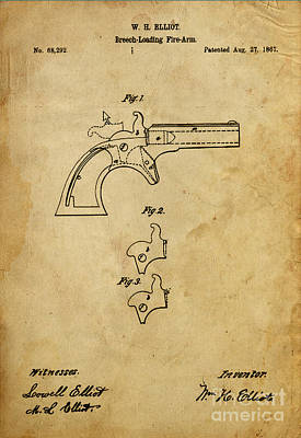 Magazine Mixed Media - Breech-loading Fire Arm - Patented On 1867 by Pablo Franchi