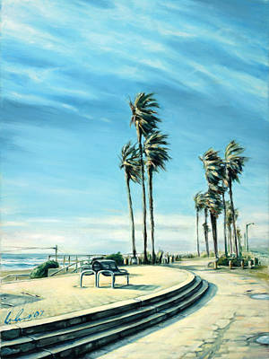 Huntington Beach Painting - Breeze by Ivailo Boliarov