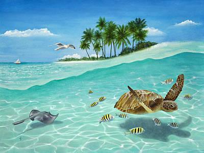 Watercolour Photograph - Breezin by Carolyn Steele