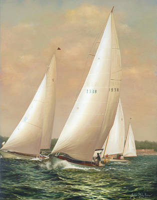 Cape Cod Wall Art - Painting - Breezing Up by Julia O'Malley-Keyes