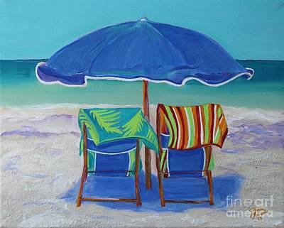 Painting - Breezy Beach Day by Jeanne Forsythe