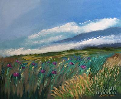Breezy Day At Mauna Kea Art Print