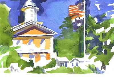 Breezy Morning At The Courthouse Art Print by Kip DeVore