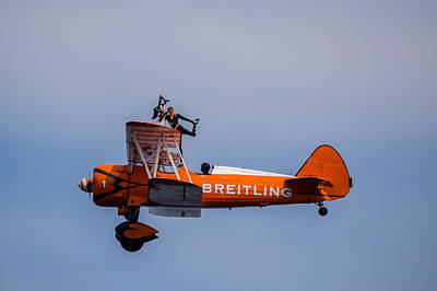 Photograph - Breitling Wingwalker Cockpit Stand by Scott Lyons