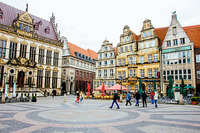 Bremen Photograph - Bremen Main Square by Pati Photography