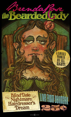 Painting - Brenda Rose Bearded Lady by Tim Nyberg