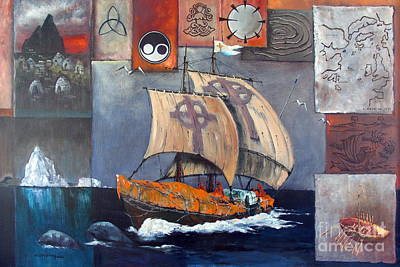 Painting - Brendan Voyage by Val Byrne