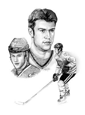 National Hockey League Drawing - Brent Seabrook - Intimidation by Jerry Tibstra