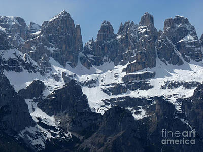 Photograph - Brenta Dolomite Peaks by Phil Banks