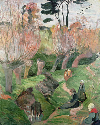 Breton Landscape  Art Print by Paul Gauguin