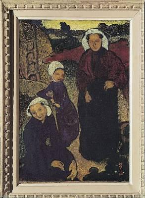 Breton Women. 1890. Symbolism. Les Art Print