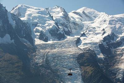 Chair Lift Photograph - Brevent Cable Car by Ashley Cooper