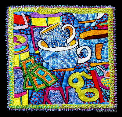 Tapestry - Textile - Brew And U by Susan Sorrell