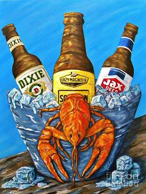 Dixie Beer Painting - Brew Bug by JoAnn Wheeler