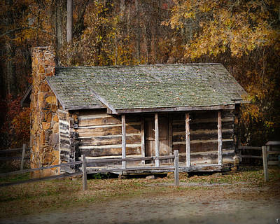 Photograph - Brewer Cabin In Fall - Autumn Landscape by Jai Johnson