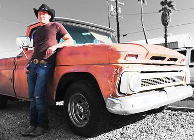 Brian Shotwell And A Truck Art Print by Carolina Liechtenstein