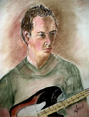 Drawing - Brian's Portrait by Arlen Avernian Thorensen