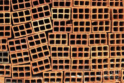 Brick Abstract Art Print by Vivian Christopher