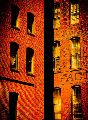 Brick And Glass Print by Matthew Blum