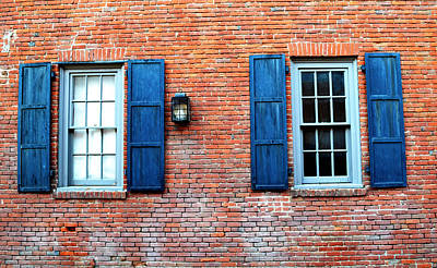 Photograph - Brick And Shutters by Holly Blunkall