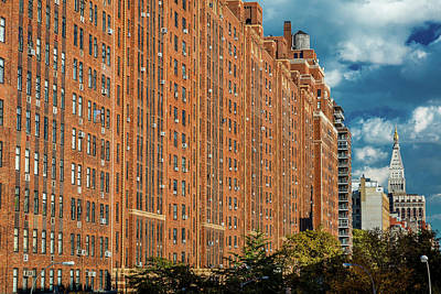 Brick Building Photograph - Brick Apartment Buildings New York City by Panoramic Images