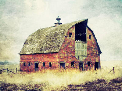 Lightning D Photograph - Brick Barn  by Julie Hamilton