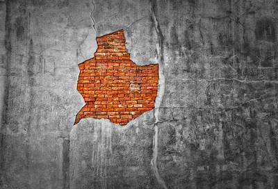 Photograph - Brick Breakout - Natchez by Frank J Benz