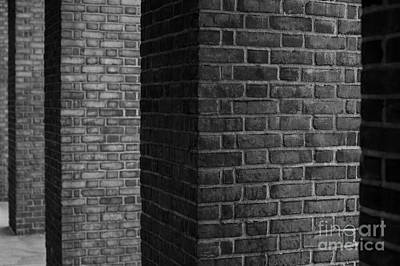 Photograph - Brick Columns Abstract by Jim Corwin