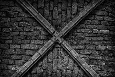 Photograph - Brick Cross by Mark Perelmuter